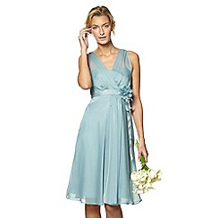 Debut - Pale green chiffon waterfall dress