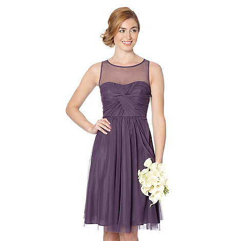Debut - Mauve mesh prom occasion dress