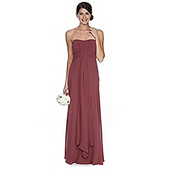 Debut - Dark pink ruched bodice maxi dress