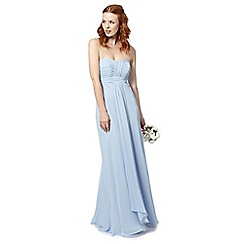 Debut - Light blue ruched bodice maxi dress