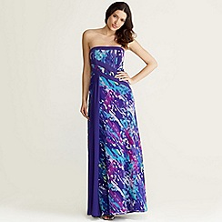 Debut - Purple artwork long evening dress