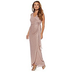 Debut - Gold shimmer jersey maxi evening dress