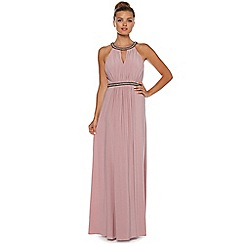 Debut - Pale pink jersey embellished maxi dress
