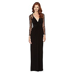 Debut - Black lace sleeve jersey maxi dress