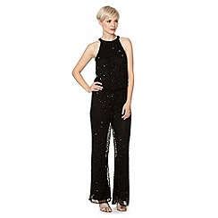 Debut - Black sequin embellished jumpsuit