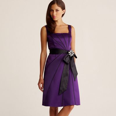 Debut Purple panelled origami prom dress product image
