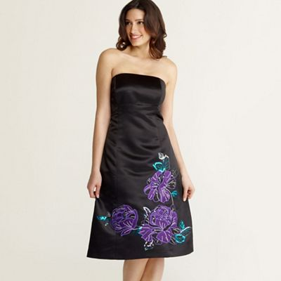 Debut Black applique corsetry dress product image