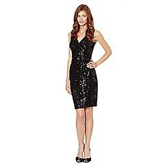 Debut - Black sequin embellished lace occasion dress