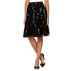 Debut - Black sequin layered skirt