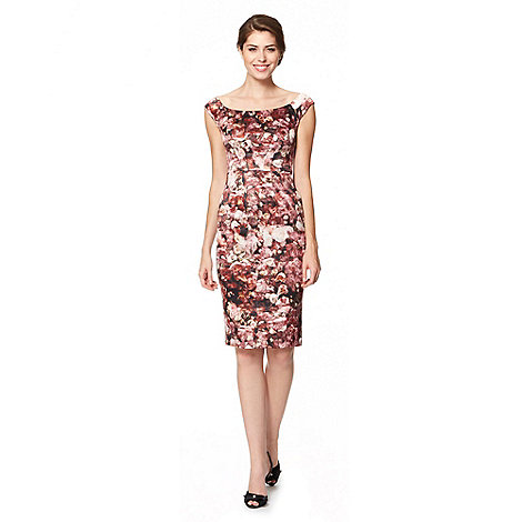 Debut - Dark rose floral shift occasion dress
