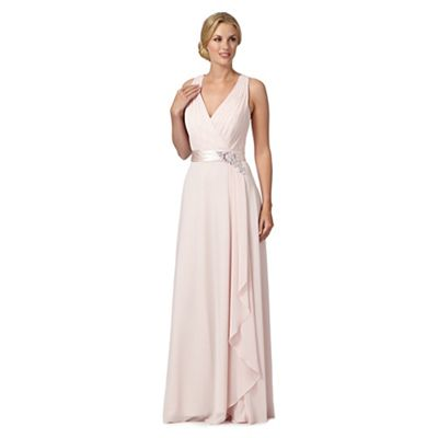 No. 1 Jenny Packham Pale pink Lily waterfall evening dress