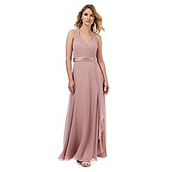 No. 1 Jenny Packham - Light pink waterfall maxi dress