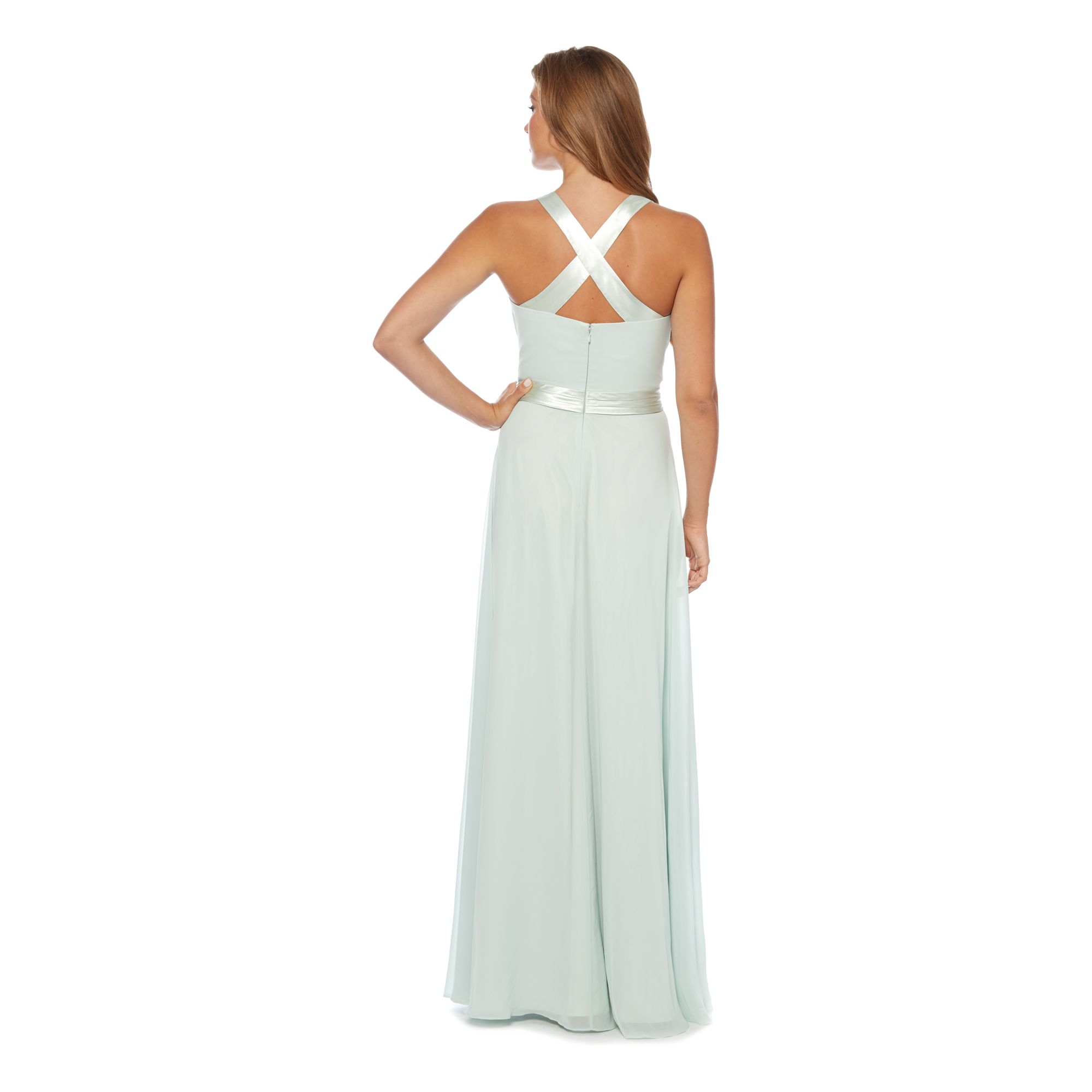 No 1 jenny packham womens light green 39 lily 39 waterfall for Waterfall design dress