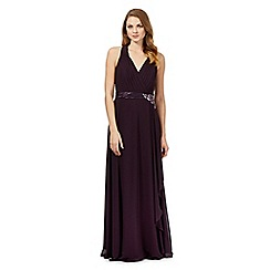 No. 1 Jenny Packham - Purple 'Lily' waterfall evening dress