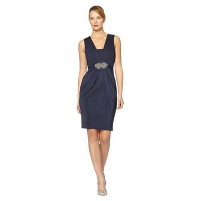 Navy Gatsby midi shift dress