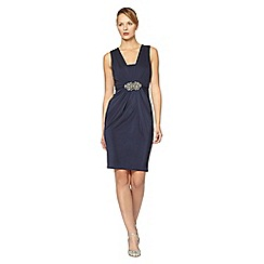 No. 1 Jenny Packham - Navy Gatsby midi shift occasion dress