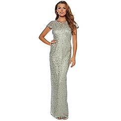 No. 1 Jenny Packham - Jade green embellished occasion gown