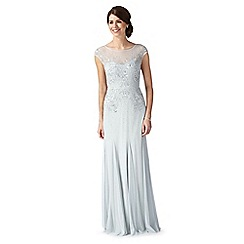 No. 1 Jenny Packham - Designer pale green embellished mesh evening dress