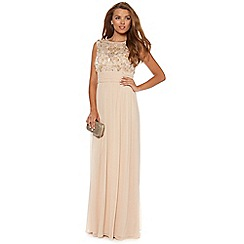 No. 1 Jenny Packham - Champagne flower embellished occasion gown