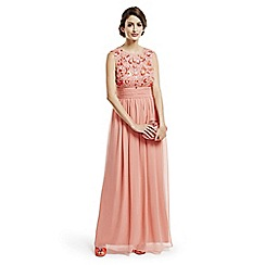 No. 1 Jenny Packham - Designer coral embellished maxi dress
