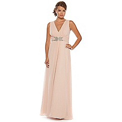 No. 1 Jenny Packham - Pale pink chiffon maxi dress