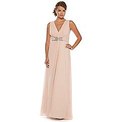 No. 1 Jenny Packham - Pale pink chiffon maxi dress