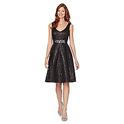 No. 1 Jenny Packham - Designer black jacquard prom occasion dress