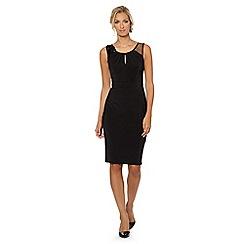 No. 1 Jenny Packham - Designer black mesh floral beaded shift dress