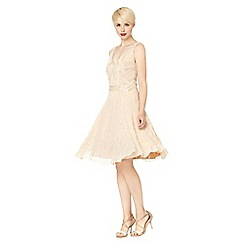 No. 1 Jenny Packham - Designer pale pink deco embellished occasion dress