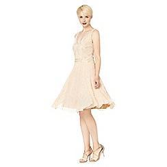 No. 1 Jenny Packham - Designer pale pink deco embellished occasion dress