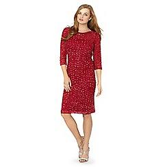 No. 1 Jenny Packham - Designer dark red embellished shift dress