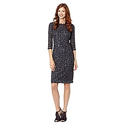 No. 1 Jenny Packham - Designer dark grey all over beaded occasion dress