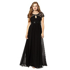 No. 1 Jenny Packham - Designer black embellished shoulder maxi dress