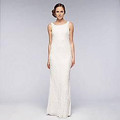 Debut - Ivory embellished cowl wedding dress