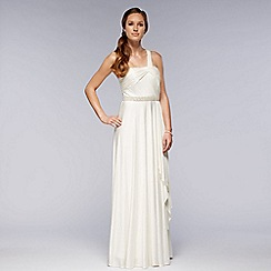 Debut - Ivory one shoulder embellished wedding dress
