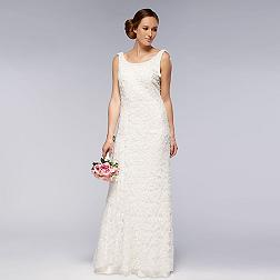 Ivory embellished lace wedding dress