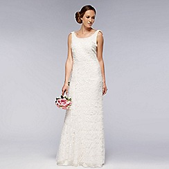 Debut - Ivory embellished lace wedding dress