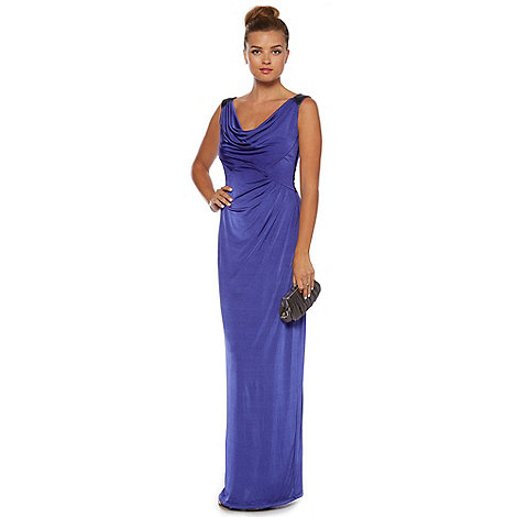 Pearce II Fionda - Purple cowl-neck maxi occasion dress