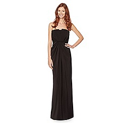 Pearce II Fionda - Designer black tuxedo style maxi dress