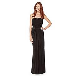 Pearce II Fionda - Designer black tuxedo style maxi dress