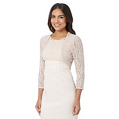 Debut - Rose lace three quarter length sleeved cover up
