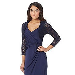 Debut - Navy lace three quarter length sleeved cover up