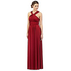 Debut - Red pleated multiway maxi evening dress