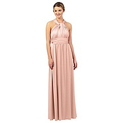 Debut - Light pink pleated multiway maxi evening dress