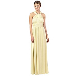 Debut - Pale yellow multiway evening dress