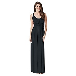 Debut - Dark green multiway jersey maxi evening dress