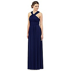 Debut - Royal blue pleated multiway maxi evening dress