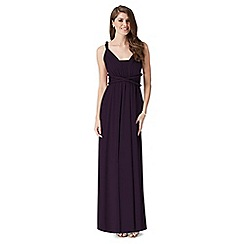 Debut - Dark purple multiway jersey maxi dress
