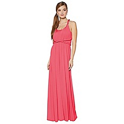 Debut - Pink pleated multiway maxi dress