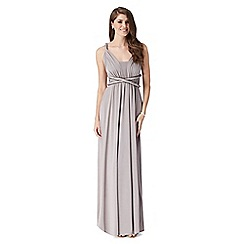 Debut - Grey pleated multiway maxi evening dress
